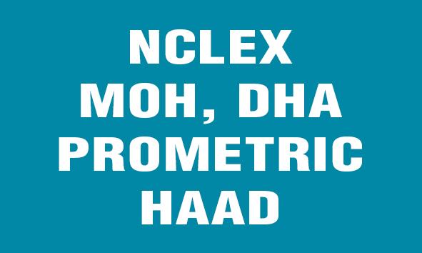 NCLEX MOH,DHA,PROMETRIC HAAD