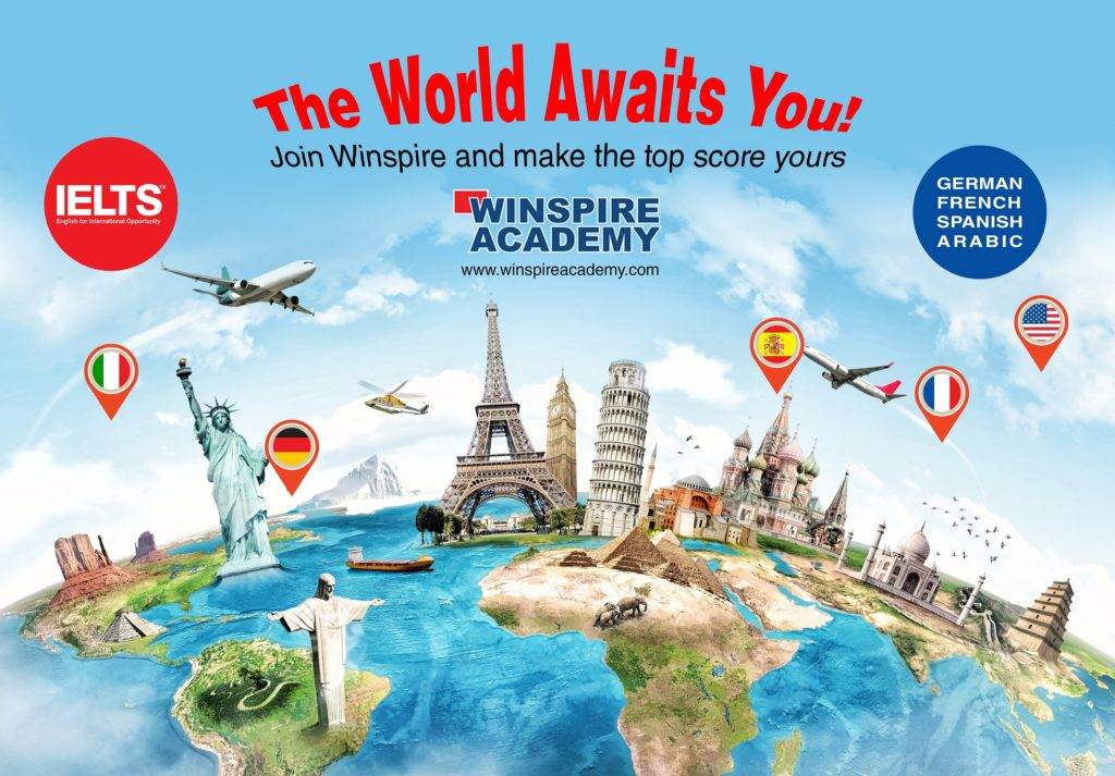 Let your dreams fly high with winspire. Join Us... IELTS, GERMAN, ARABIC, SPOKEN ENGLISH CLASSES